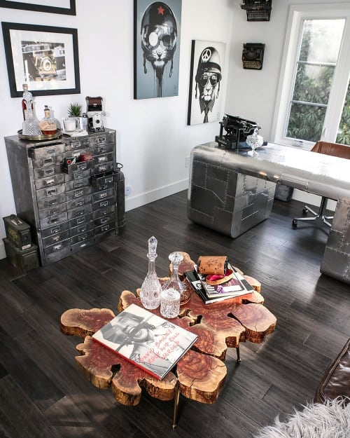 """Tables by Lumberlust Designs seen at West Culver Street, Phoenix - Carob """"Rorschach"""" Coffee Table"""