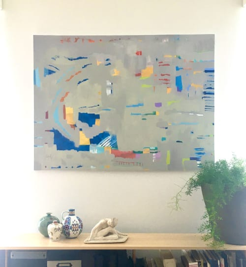 Paintings by Julea Boswell Art Studio seen at Private Residence, Ottawa - Falling into PLace