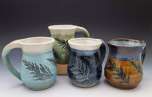 Cups by Orna's Pottery seen at Private Residence, Carlsbad - Large cup of tea