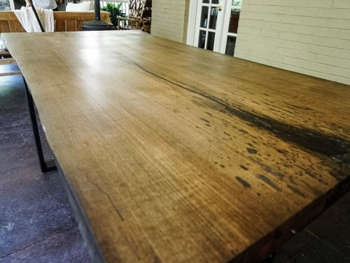 Tables by Walker & Wood seen at Private Residence, Nashville - Maple Slab Table