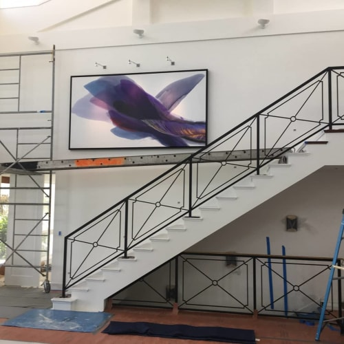 Paintings by Ridgeway Studio seen at Private Residence, Fort Lauderdale - Deep Purple