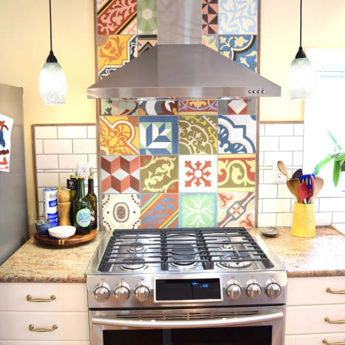 Tiles by Avente Tile seen at Private Residence, Ithaca - Cuban and Traditional tiles