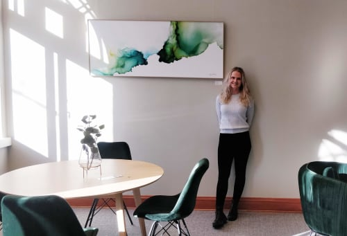 Paintings by Lotta Sirén seen at Suomitalo, Helsinki - Creation of calm