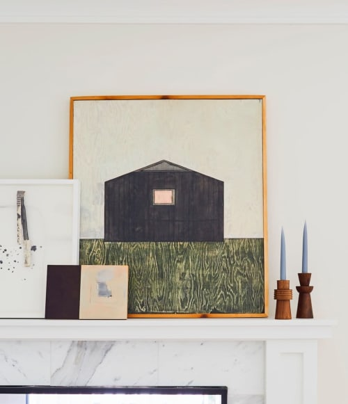 Paintings by Jennifer Urquhart seen at Private Residence, Los Angeles - The Cottage