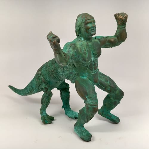 Sculptures by Joshua Goode seen at Rhome, Rhome - Hulktaur, Ancient Bronze Sculpture
