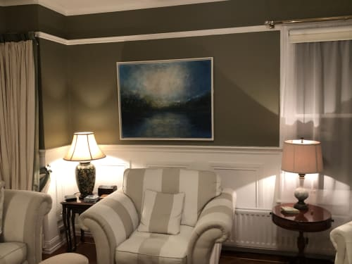 Art Curation by Solimar Nogueira-Darroch seen at Private Residence - Dusk by Solimar Arts