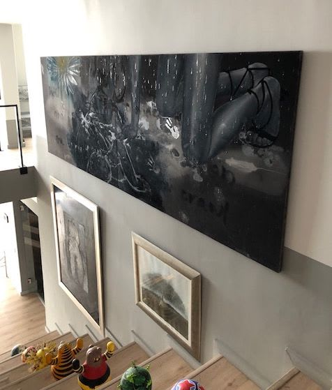 Paintings by Tracy Payne seen at Private Residence - Green Point, Cape Town, Cape Town - 'The Big Black'