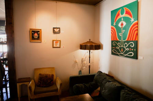The Birth of Spade & Sacral Roses   Paintings by Jillian Selene Art   Shades of Brown Coffee & Art in Tulsa