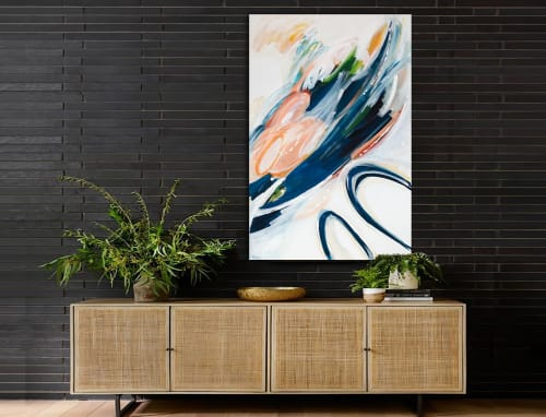 Paintings by Linnea Heide contemporary fine art seen at Asheville, Asheville - 'EUDORA' original abstract painting by Linnea Heide