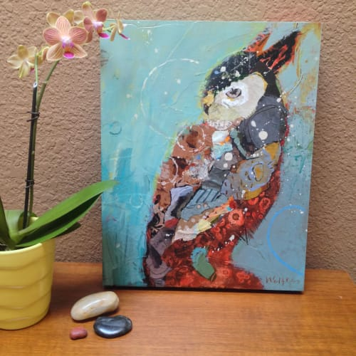 Paintings by Shelli Walters Studio seen at Creator's Studio, Bend - Brother Moon Painting