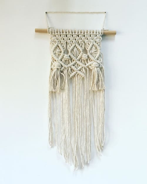 """Macrame Wall Hanging by Peanut Butter Dreams seen at Private Residence, London - """"Tassels macrame wall hanging"""""""