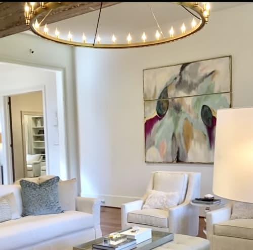 Paintings by Lori Sperier Art seen at Private Residence, Ocean Springs - Bloom Magenta Stagg