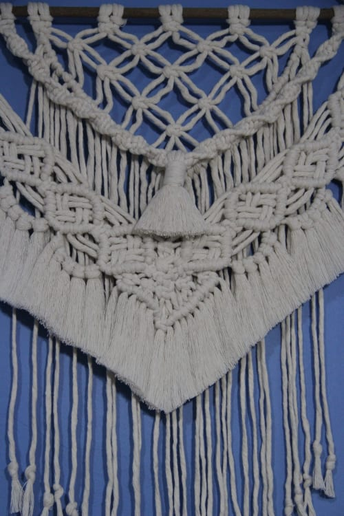 Macrame Wall Hanging by NeedleVERSE Design seen at Private Residence, Istanbul - White Macrame Wall Hanging