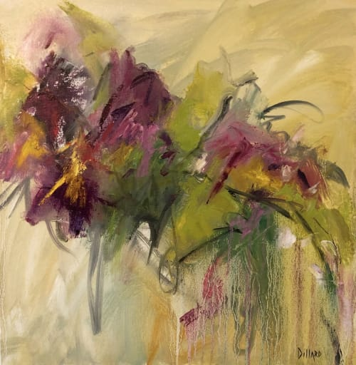 Paintings by Kelly Dillard Art seen at Private Residence, Omaha - Square One and By the Doorstep