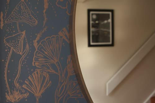 Wall Hangings by Addicted to Patterns seen at Private Residence, Bath - Royal Sapphire Sea Florals