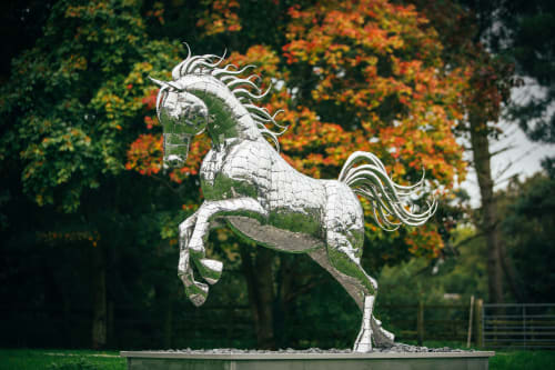 Sculptures by Michael Turner Studios seen at Private Residence, Kingsclere - Leaping Horse