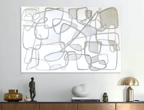 Paintings by Linnea Heide contemporary fine art seen at Private Residence, New York - 'LA TE DA' original abstract painting by Linnea Heide