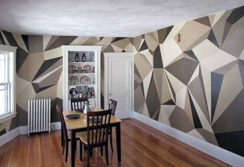 Murals by MATT W. MOORE seen at Private Residence, Somerville - MWM Diamonds.