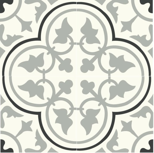 Tiles by Avente Tile seen at Private Residence, Beverly Hills - Mission Roseton Cement Tile