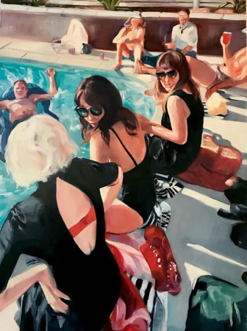 Paintings by Phoebe Clemens Riggwrsco seen at Private Residence, Los Angeles - Party