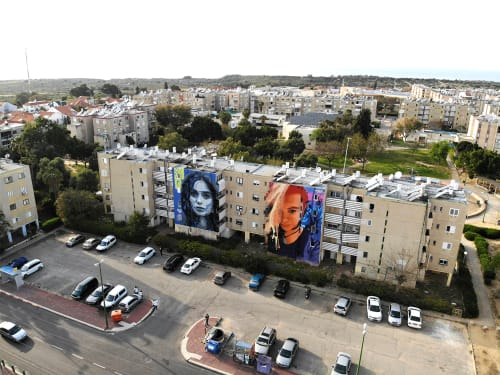 Street Murals by TakerOne seen at Ashkelon, Ashkelon - Dreamtime Traveler