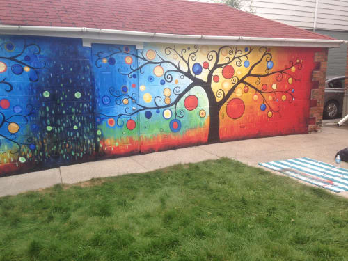 Two Trees   Murals by Murals By Marg