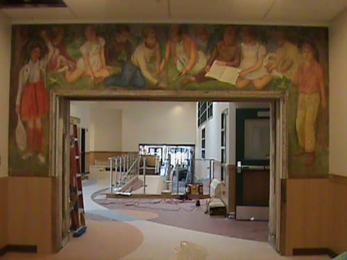 Murals by Tricia George Artist seen at Ross Elementary - Ross Elementary School Mural Renovation