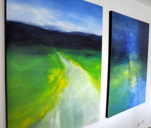 Paintings by CHRISTIAN BAHR seen at Private Residence, Kyiv - FOLLOW INTO THE UNKNOWN