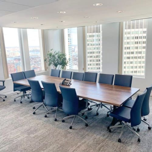 Tables by Lighthouse Woodworks seen at Boston, Boston - Conference Table