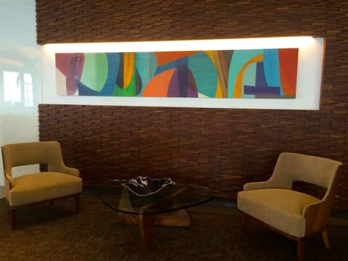 Art Curation by Victoria Johnson seen at Boston Consulting Group, Seattle - Lobby Artwork