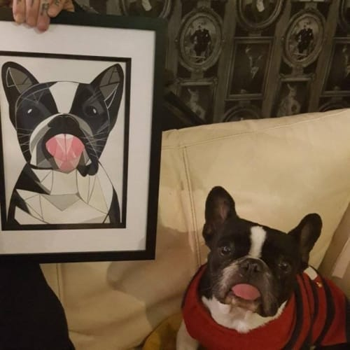 Paintings by Geo-Wild Designs (Mahayla Clayton) seen at Private Residence, Coningsby - Commission - pet dog.