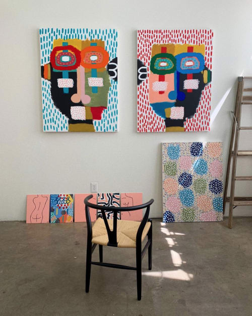 Paintings by Alli Conrad seen at Private Residence, West Hollywood - Pink Balls