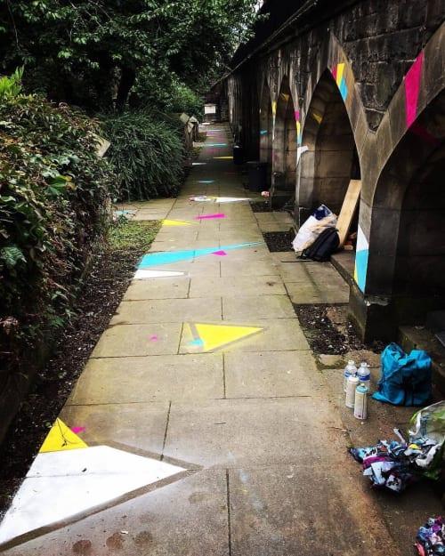 Murals by Emily Sarah Art seen at Edinburgh, Edinburgh - Festival Polygons