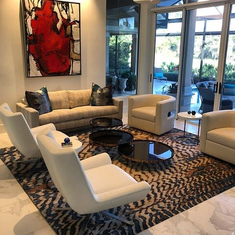 Rugs by Emma Gardner Design, LLC seen at Private Residence, Bonita Springs - Custom Dunes