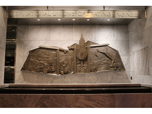 Sculptures by Kaskey Studio LLC seen at Intl Union of Operating Engineers, Washington - Bas Relief