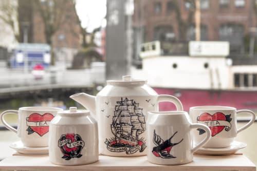 Cups by Emma Puddick Pottery seen at Bristol, Bristol - Tattooed Tea Set