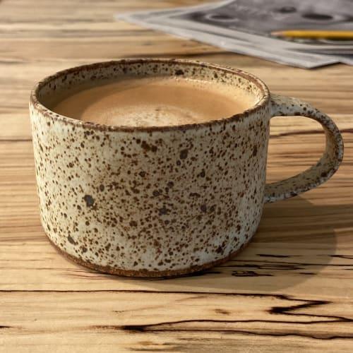 speckled short modern mug | Cups by cursive m ceramics