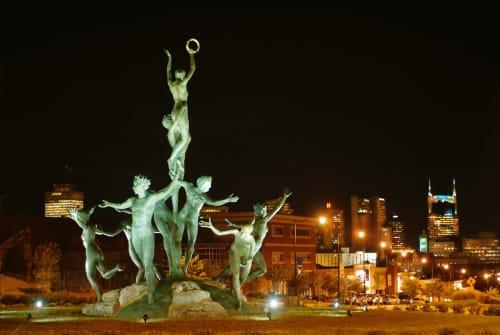 Public Sculptures by Alan LeQuire seen at 1600 Division St, Nashville - Musica