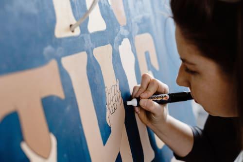 Street Murals by Jasmine Holmes seen at Kensington, Kensington - Jasmine Designs