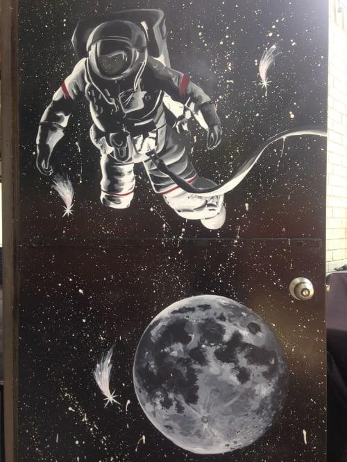 Murals by Sapira Design seen at CrossFit Lumos, Austin - Galactic Guardian