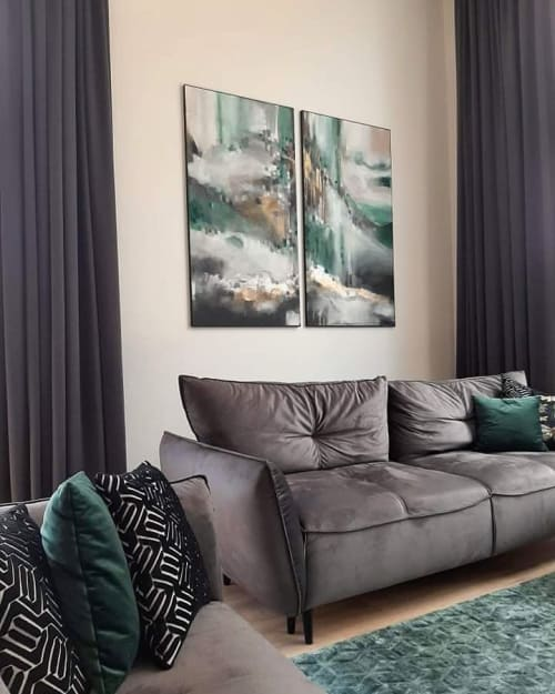 Art Curation by Egle's Paintings seen at Private Residence, Vilnius - Residential interior