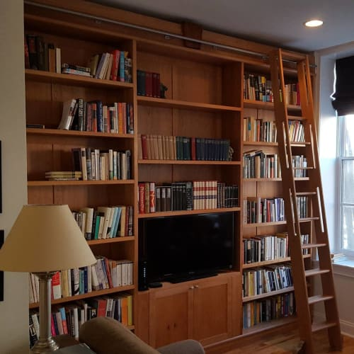 Furniture by Arbol Furniture and Design seen at Private Residence, Philadelphia - Built-in Bookcase