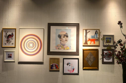 Art & Wall Decor by Sarah Gee Miller seen at Aritzia, Saint-Catherine Street, Montréal - Target drawing