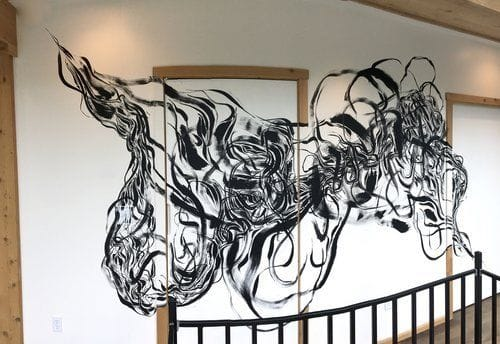 Murals by Rowan Willigan seen at Private Residence, Tivoli - Glass House Mural