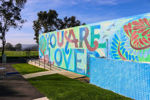 Murals by YOU ARE LOVED Murals seen at Berkeley Hall School, Los Angeles - You Are Loved Mural