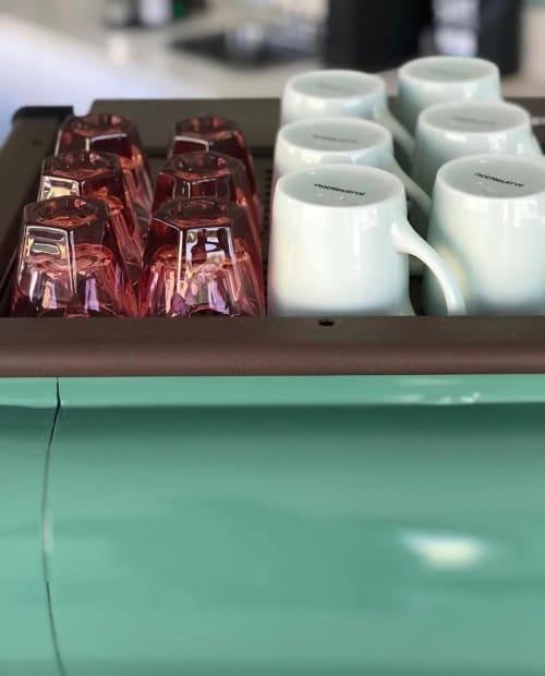Cups by notNeutral seen at Steelhead Coffee, Long Beach - LINO Mugs and Rose VERO Cortados