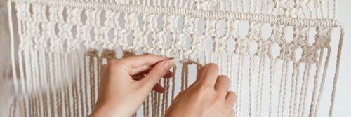 Knots & Wallflowers - Macrame Wall Hanging and Art