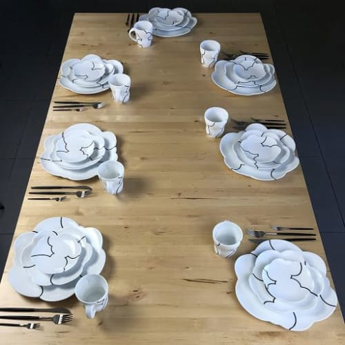Ceramic Plates by Sam Chung seen at Private Residence, Tempe - Dinner Set