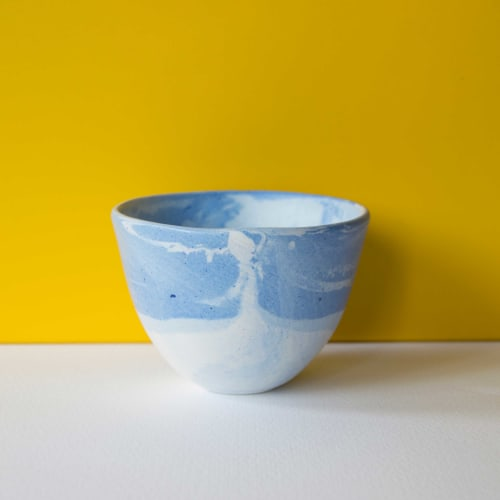 Ceramic Plates by Clara Ceramics seen at Private Residence, Madrid - Marbled cobalt bowl