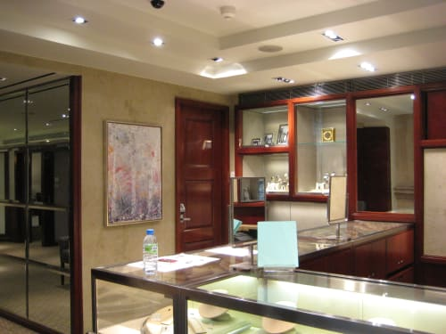 Paintings by Andrea Bonfils at Tiffany & Co., London - Commission Tiffany & Co.